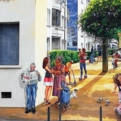 Fresques murales rue Paul Cazeneuve
