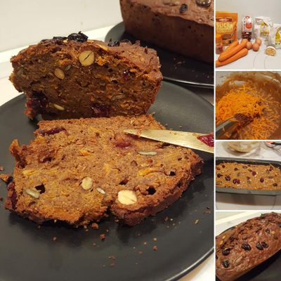 Carrot cake, sans gluten & lactose, ultra moelleux