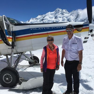 OARAKI / MOUNT COOK , SKI PLANE AND GLACIER LANDING ... AWESOME EXPERIENCE ! great videos & photos