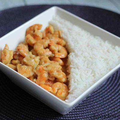  Curry thaï de crevettes au coco ( recette au companion ou pas)