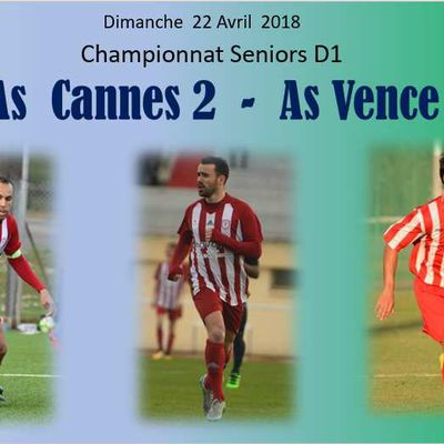 Seniors D1 : As Cannes 2 - As Vence