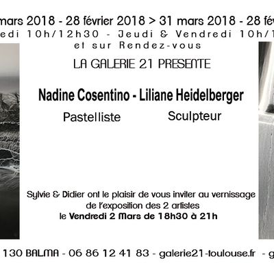 Expositions récentes : 2014 - 2015 - 2016 - 2017 - 2018