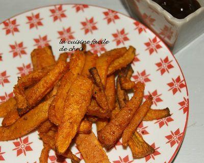 Frites de patates douces et butternut aux épices