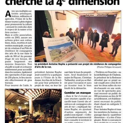 Un pôle de résidences des arts de la rue à l'Usine de la Redonne ? Un très beau et utile projet.