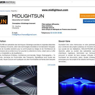 éclairage intérieur/extérieur par la fibre optique lumineuse