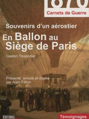 En ballon au siège de Paris (Editions Jourdan)