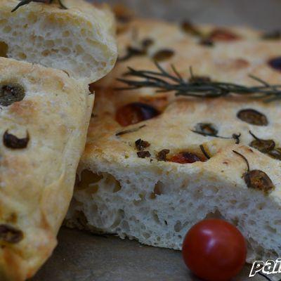 Pain aux olives sans pétrin