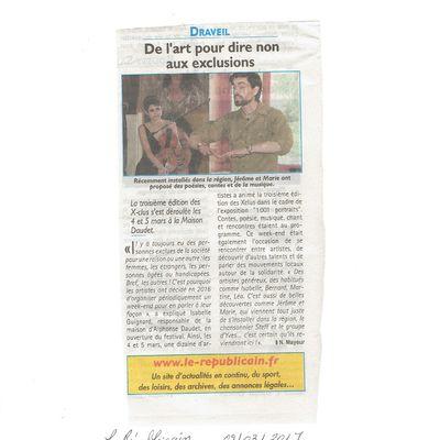De l'art pour dire non aux exclusions (Le Républicain 09/03/17)