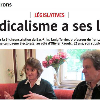 Interview de l'Alsace, 20 mai