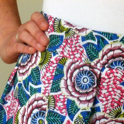 Jupe en faux Wax : Tuto Mondial Tissu