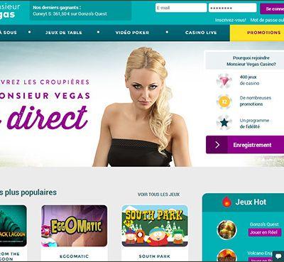 La loterie de Noël du casino en direct Monsieur Vegas