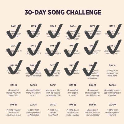 DEFI 30 jours de chansons francophones - Jour 18