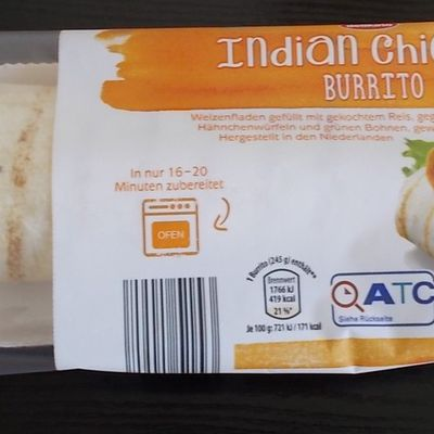 [Aldi Nord] Delikato Indian Chicken Burrito von Qizini Losser