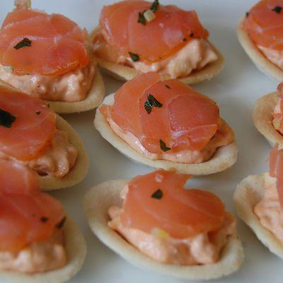 Tartelette au saumon fumé