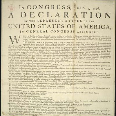 US Declaration of Independence found in England