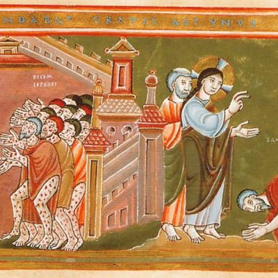 Christ and the Lepers (1035-1040)