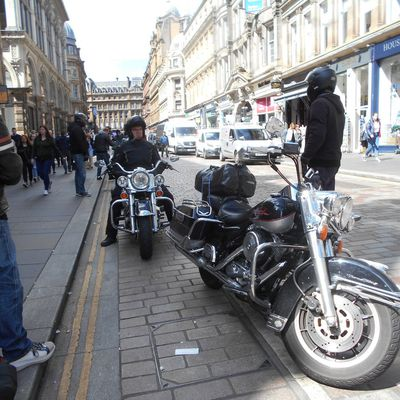 German Motorbikers in Glasgow