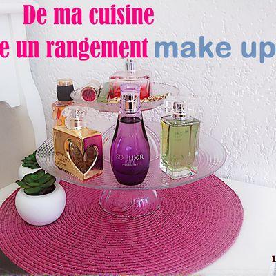 Diy rangement make up: de ma cuisine je réalise mon rangement pour maquillage, parfums et accessoires