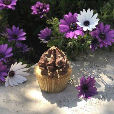 Cupcakes et ganache de pâte à tartiner