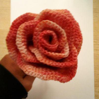 Rose au crochet