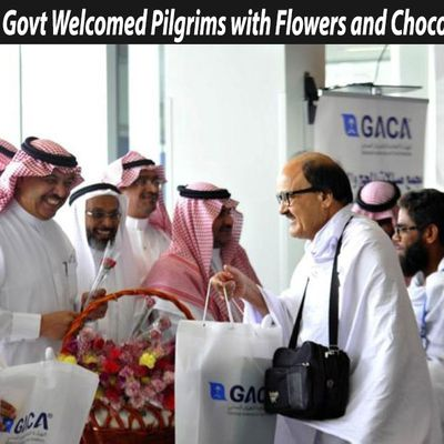 Saudi Govt Welcomed Pilgrims with Flowers and Chocolates: