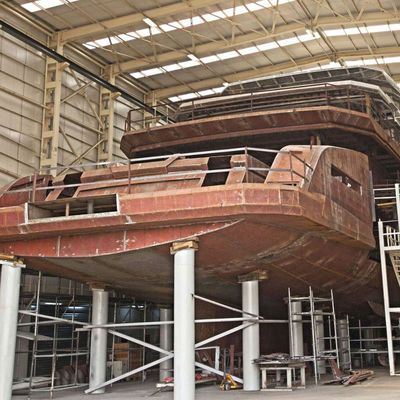 68m Ice Yachts MY Days construction proceeding on schedule at Aes Yacht Turkey ​​​​​​​