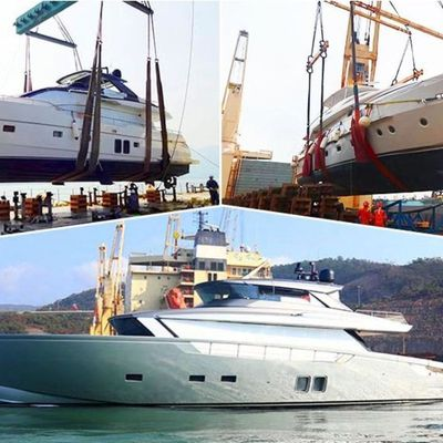Three new Sanlorenzo yachts arrive in Hong Kong for the Chinese New Year