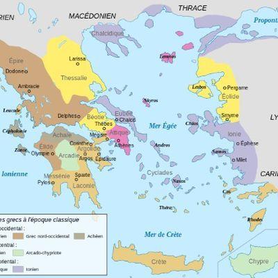 Les dialectes grecs triés par nombre de lettres