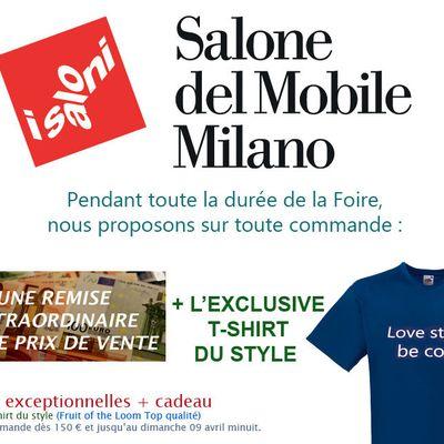 Salone del Mobile Milano: remise extraordinaire + cadeau offert sur toute commande!