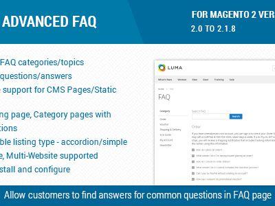 Advanced FAQ Extension For Magento 2