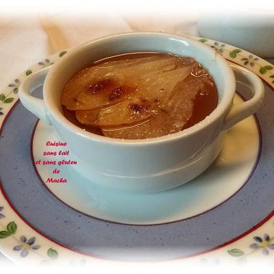 Crème au chocolat et poire cristallisée