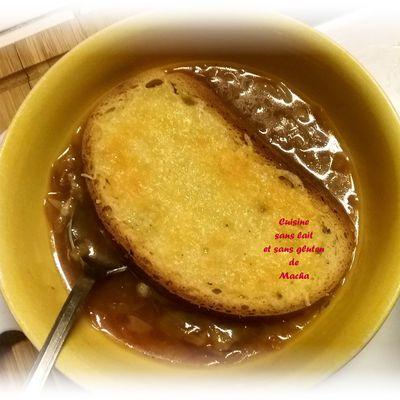 Soupe à l'oignon au tapioca