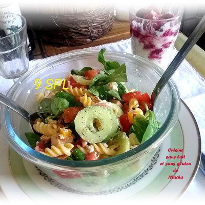 Salade de fusillis poulet ,fêta