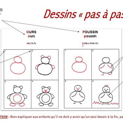 "Dessins ""pas à pas"" MS"