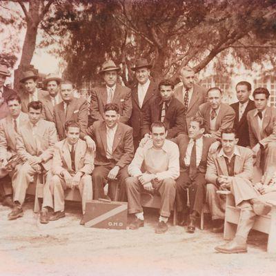 L'équipe de l'OHD à Canastel Oran en 1948.