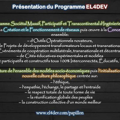 Présentation simple du Papillon Source EL4DEV