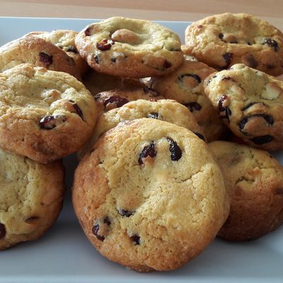Cookies cranberries et chocolat blanc