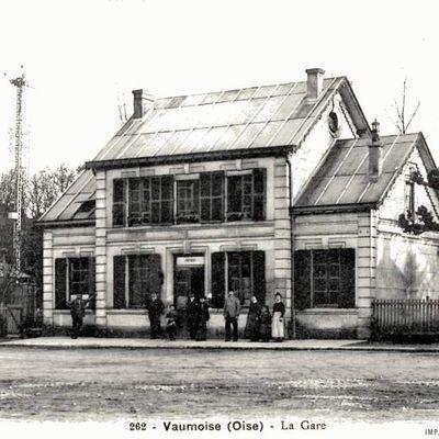 CP gare de  Vaumoise (Oise)