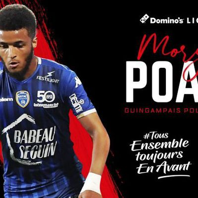 OFFICIEL : MORGAN POATY A L'EN AVANT GUINGAMP