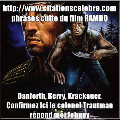 Phrases culte du film RAMBO