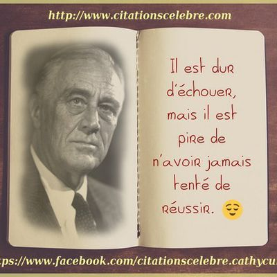 Citation de Franklin Delano Roosevelt