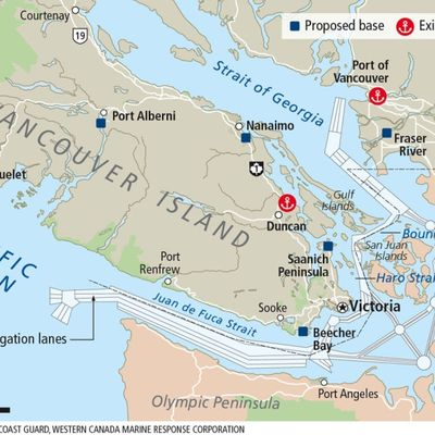 Five oil spill-response bases eagerly awaited on Vancouver Island