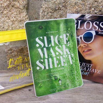 Unboxing glossybox d'août: Le slice mask au concombre de Kocostar