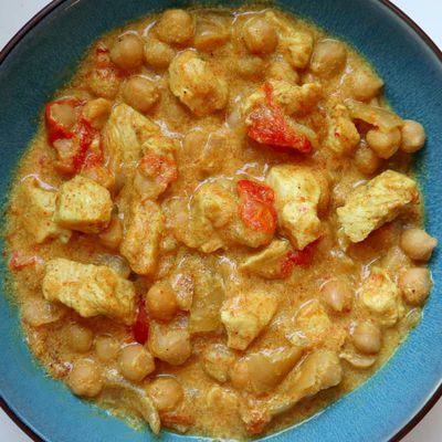 Curry de pois chiches au poulet- 3sp