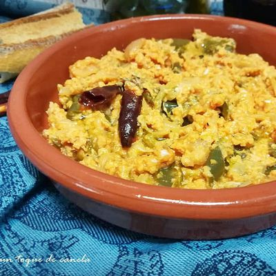 Menemen- revuelto de verduras -cocina Turquía