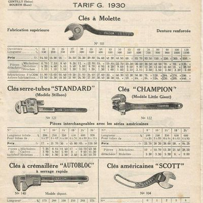 Catalogue Facom 1932