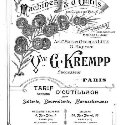 Catalogue Lutz Krempp 1905