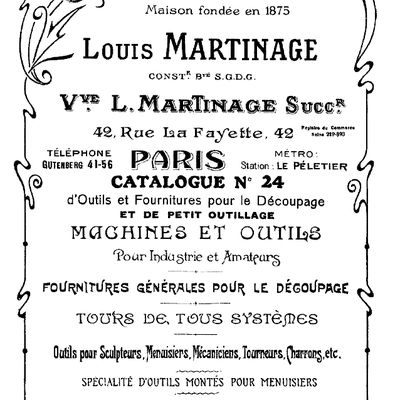 Catalogue Louis Martinage 1928