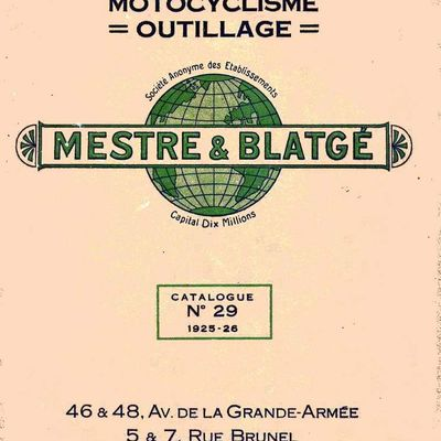 Catalogue Mestre et Blatgé