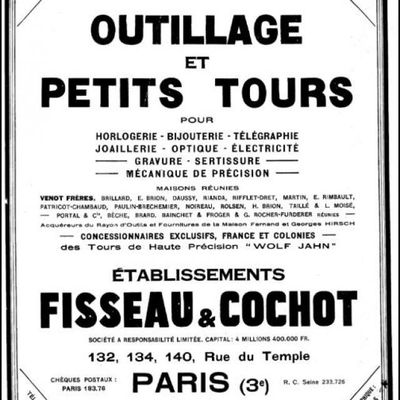 Catalogue Fisseau et Cochot 1924